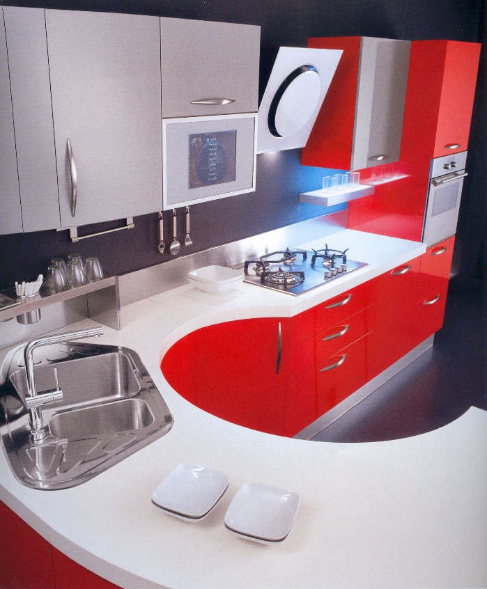 cuisine maiorcucine geo laqu e rouge ferrari. Black Bedroom Furniture Sets. Home Design Ideas