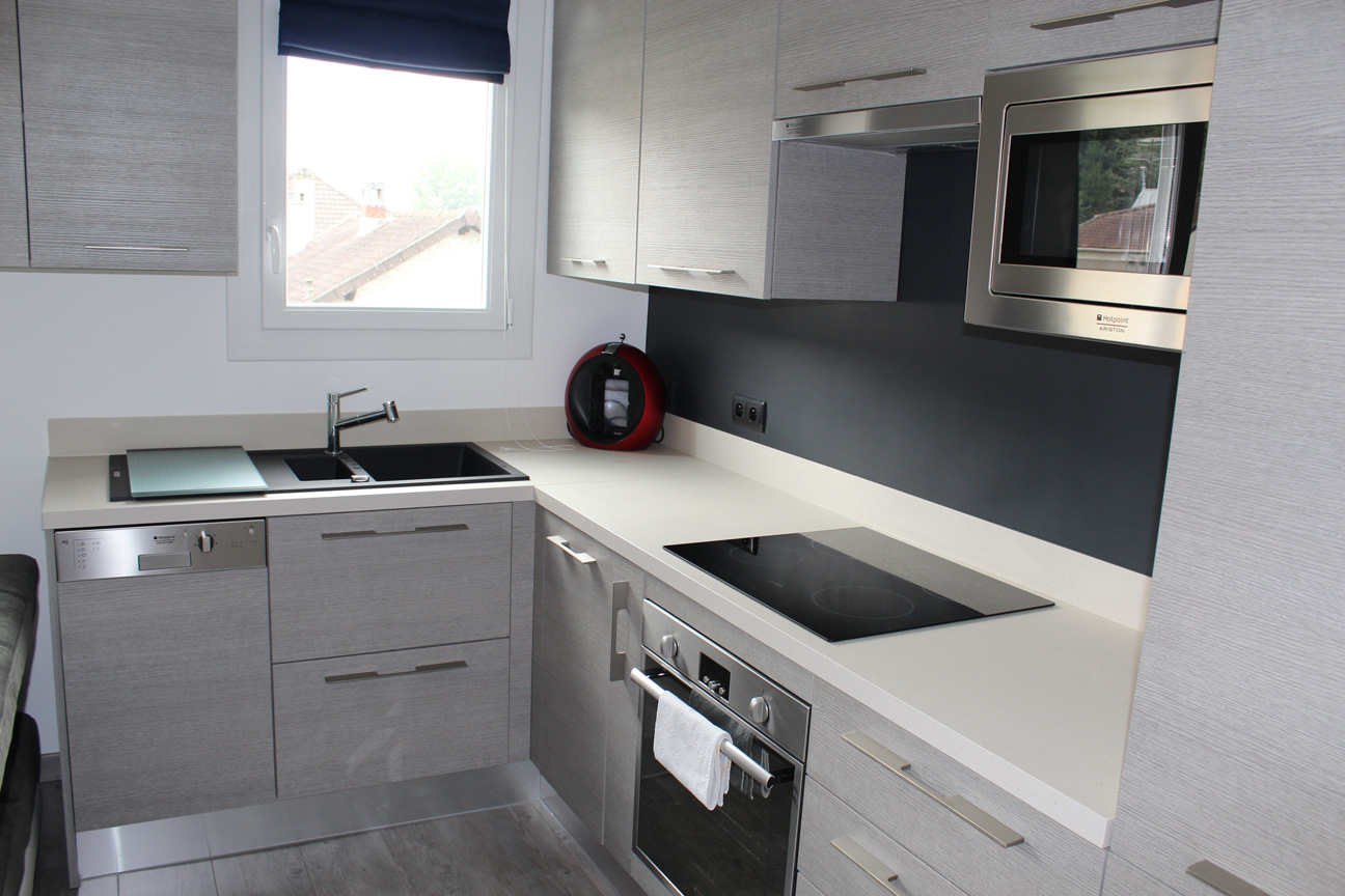 Cuisine d appartement maiorcucine kia matrix larice gray sadeco le s - Cuisine d appartement ...